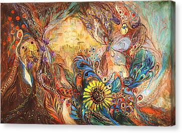 Jerusalem Canvas Print - The Walls Of Childhood by Elena Kotliarker