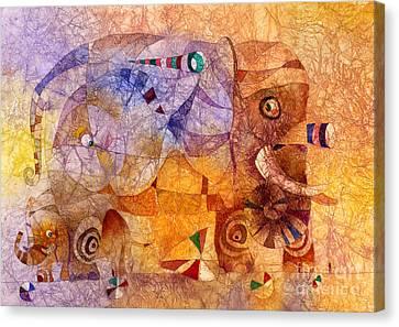 The Wandering Elephant 2 Canvas Print by Svetlana and Sabir Gadghievs