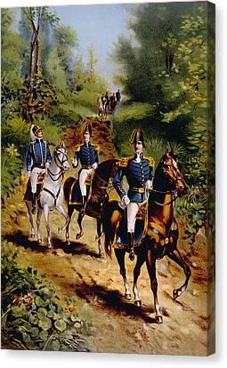 The War Of 1812, U.s. General Staff Canvas Print by Everett