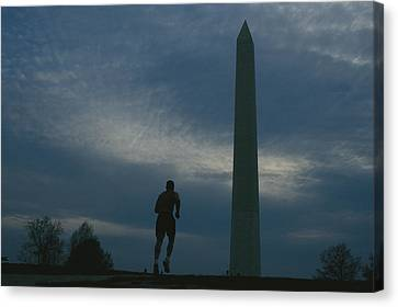 The Washington Monument Looms Canvas Print