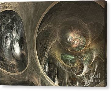 Interior Still Life Canvas Print - The Watcher Of Two Worlds by Sipo Liimatainen