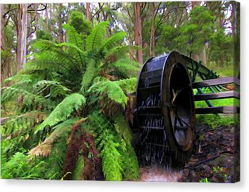 The Water Wheel Canvas Print by Paul Svensen