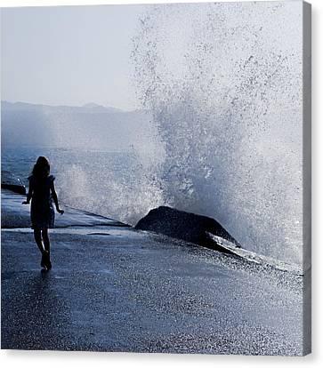 The Wave Canvas Print by Joana Kruse