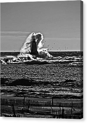 The Wave Canvas Print by Randall  Cogle