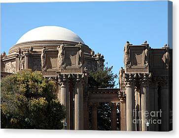 The Weeping Maidens Of The San Francisco Palace Of Fine Arts - 5d18305 Canvas Print by Wingsdomain Art and Photography