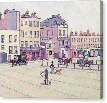 Horse And Cart Canvas Print - The Weigh House - Cumberland Market by Robert Polhill Bevan