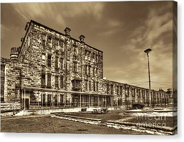 The West Virginia State Penitentiary Backside Canvas Print by Dan Friend