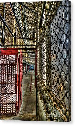 The West Virginia State Penitentiary Cell Hallway Canvas Print by Dan Friend