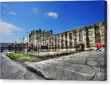 The West Virginia State Penitentiary Courtyard Outside Canvas Print by Dan Friend