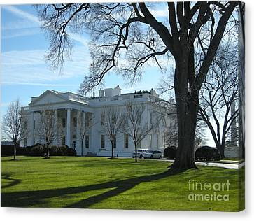 Canvas Print featuring the photograph The White House by Victoria Lakes