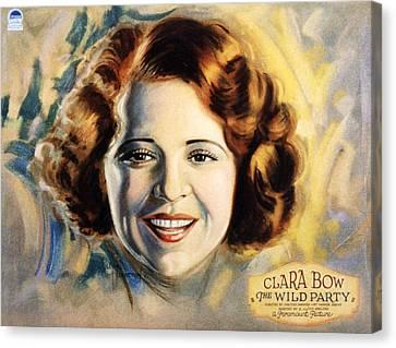 The Wild Party, Clara Bow, 1929 Canvas Print by Everett