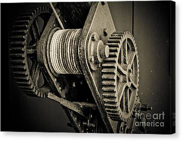 The Winch Canvas Print by John Buxton