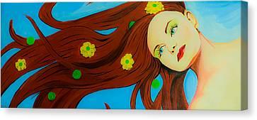 The Wind Blows A Kiss Canvas Print by Chris  Leon
