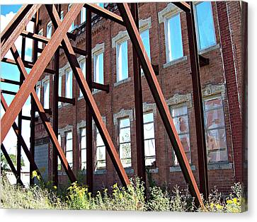 Canvas Print featuring the photograph The Window Wall by MJ Olsen