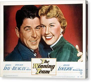The Winning Team, Ronald Reagan, Doris Canvas Print by Everett