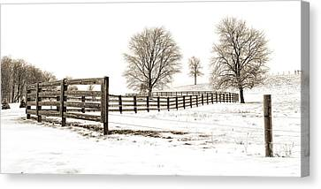 The Winter Hill Gang Canvas Print by Jak of Arts Photography