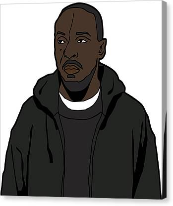 The Wire's Omar Little Canvas Print by Tomas Raul Calvo Sanchez