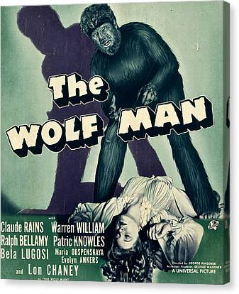 The Wolf Man, From Top Lon Chaney Jr Canvas Print