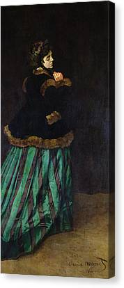 The Woman In The Green Dress Canvas Print