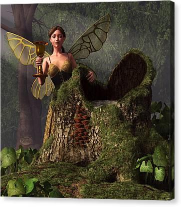 The Wood Sprite Canvas Print by Daniel Eskridge