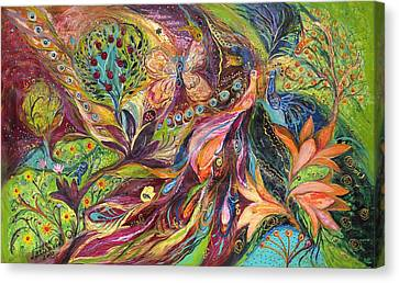 The World Of Lilies ...... The Original Can Be Purchased Directly From Www.elenakotliarker.com Canvas Print by Elena Kotliarker