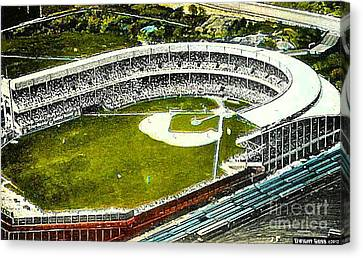 The Yankees' Polo Grounds In New York City In The 1920's Canvas Print by Dwight Goss