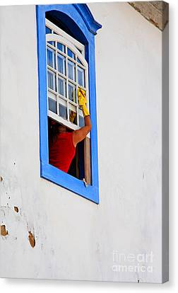 The Window Cleaner Canvas Print