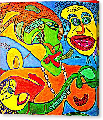 Seem Canvas Print - The Yellow Man - Acrylic On Stretched Canvas  by Sebastian Joseph