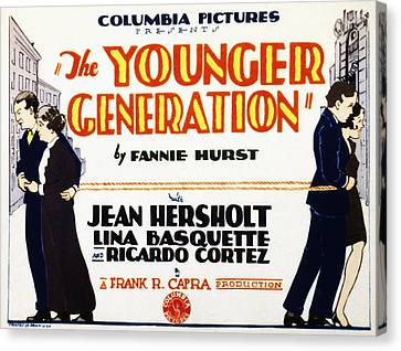 The Younger Generation, Jean Hersholt Canvas Print by Everett