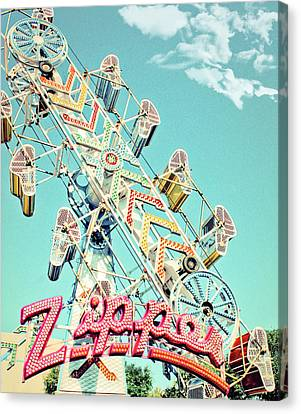 The Zipper Carnival Ride Canvas Print by Eye Shutter To Think