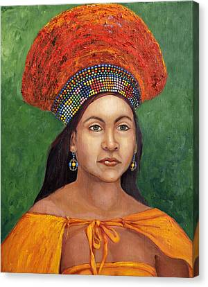 The Zulu Bride Canvas Print by Enzie Shahmiri
