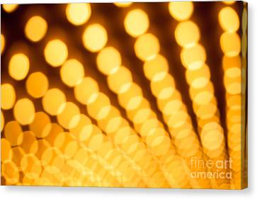 Theater Lights In Rows Defocused Canvas Print by Paul Velgos