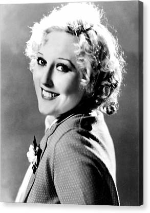 Thelma Todd, Mgm, Ca 1933 Canvas Print by Everett