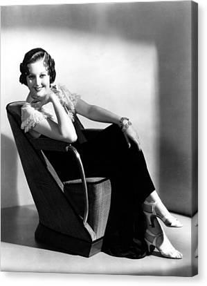 Thelma Todd, Portrait Ca. 1930s Canvas Print by Everett