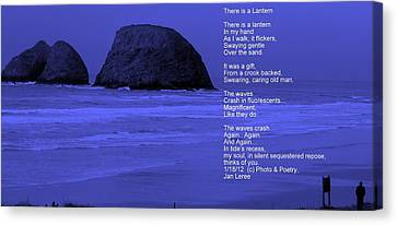 Shoreline Old Men Canvas Print - There Is A Lantern by Jan Whidden