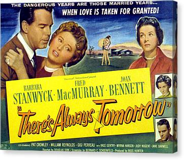 Theres Always Tomorrow, Fred Macmurray Canvas Print by Everett