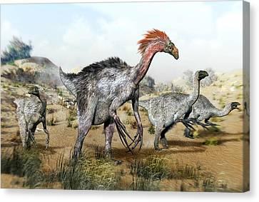 Therizinosaurus Dinosuars Canvas Print by Jose Antonio PeÑas
