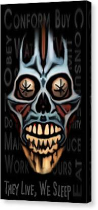 Canvas Print featuring the painting They Live We Sleep by Jeff DOttavio