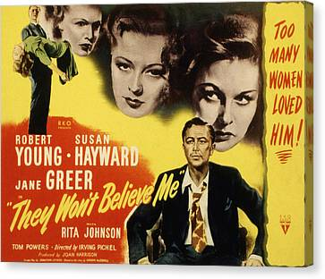 Hayward Canvas Print - They Wont Believe Me, Robert Young by Everett