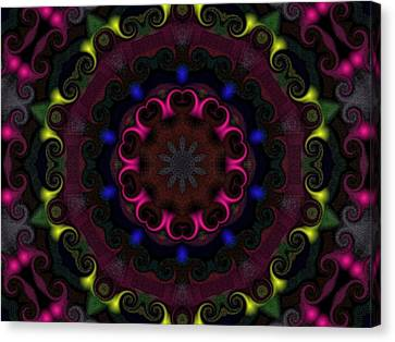 Canvas Print featuring the digital art Think Pink by Alec Drake