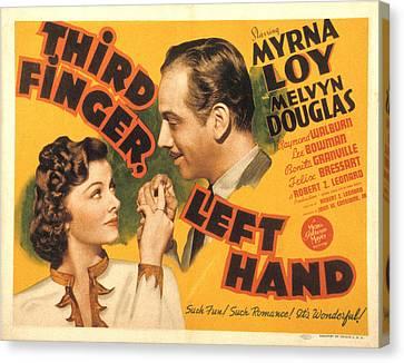 Third Finger, Left Hand, Myrna Loy Canvas Print by Everett