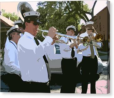 Third Line Brass Band Canvas Print by Renee Barnes