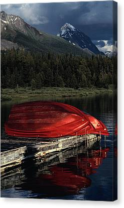 This Boathouse Has Catered To Anglers Canvas Print by Raymond Gehman