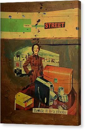 This Dissolving Street Canvas Print by Adam Kissel