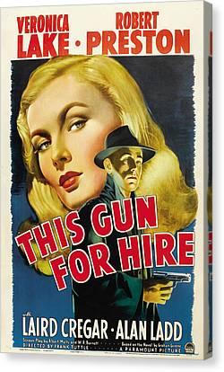 This Gun For Hire, Veronica Lake, Alan Canvas Print
