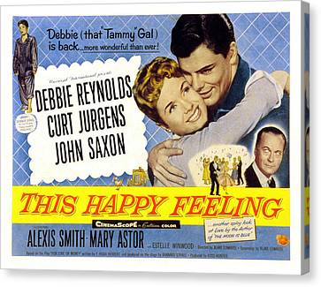 This Happy Feeling, Debbie Reynolds Canvas Print by Everett