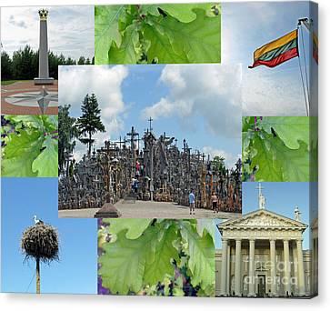 Canvas Print featuring the photograph This Is Lietuva- Lithuania by Ausra Huntington nee Paulauskaite
