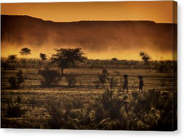 This Is Namibia No. 12 - Walking The Desert Canvas Print by Paul W Sharpe Aka Wizard of Wonders
