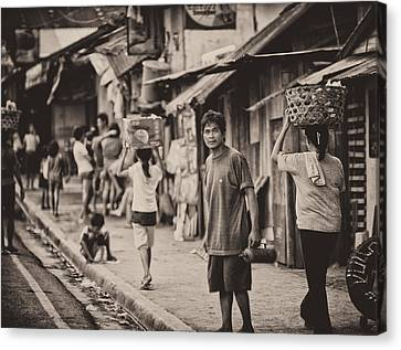 Basket Head Canvas Print - This Is The Philippines No.55 - The Carriers by Paul W Sharpe Aka Wizard of Wonders