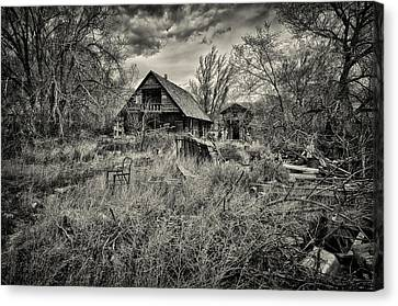 Log Cabins Canvas Print - This Is Utah No. 23 - The House With Bottle Walls by Paul W Sharpe Aka Wizard of Wonders